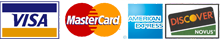 Visa, Master Card, American Express and Discover